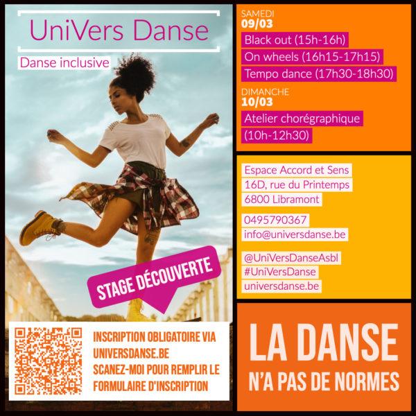 Stage de danse inclusive à Libramont